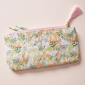 Anthropologie Lulie Wallace Pleasing Poppies Pouch